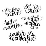Vector winter lettering Royalty Free Stock Photos