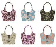 Set of handbags Stock Photos