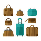 Set of handbags isolated on white background Stock Images