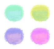 Set of handdrawn bright watercolor circles Royalty Free Stock Photography