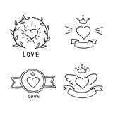 Set of handdrawn design elements Royalty Free Stock Photography