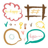 Set of handdrawn speech bubbles. Vector colorful. Stock Images