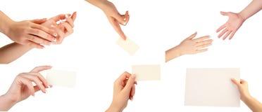 Set Handgesten Stockfotografie