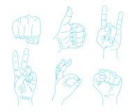 Set Handgesten Lizenzfreie Stockfotografie