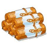 Set handmade świeczki odizolowywać na białym tle beeswax Wektorowa kreskówki zakończenia ilustracja ilustracja wektor