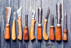 Set of handmade old knife Stock Photography