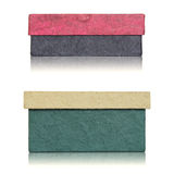 Set of handmade paper box Royalty Free Stock Images