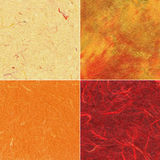 Set of handmade paper textures Royalty Free Stock Photos