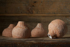 A set of handmade pottery Stock Photos