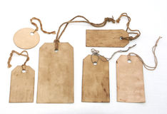 Set of handmade tags Stock Photo