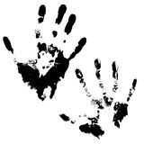 Set of handprint Stock Images