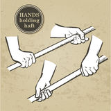 Set of hands. Hand holding collection - vector illustration Stock Image
