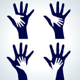Set of Hands silhouette Royalty Free Stock Photos