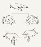 Set Of Hands. Vector Drawing Stock Photo