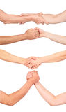 Set of handshakes Royalty Free Stock Photography