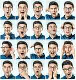 Set of handsome excited man royalty free stock photo