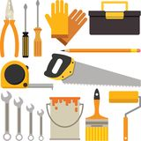 A Set of Handyman or DIY Tool Icons. A set of icons suitable for Do It Yourself or Handyman business uses Stock Image