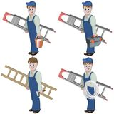Set of handyman. Stock Images