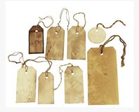 Set of hang tags Stock Images