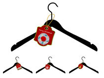 Set of hangers with Christmas sale tag. Vector Stock Photo
