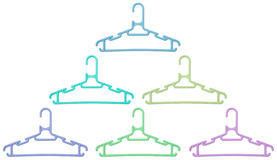 Set of hangers with clipping paths Royalty Free Stock Photos