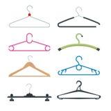Set of hangers. Vector flat illustration Royalty Free Stock Image