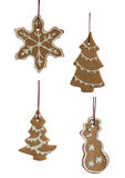 Set of Hanging Decorated Ginger Bread Cookies Stock Photo