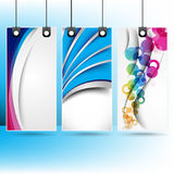 Set of hanging multicolor banner Royalty Free Stock Photos