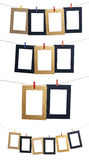 Set Of Hanging Photo Frame Royalty Free Stock Photos