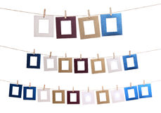 Set Of Hanging Photo Frame Royalty Free Stock Image