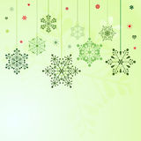 Set of hanging snowflakes Royalty Free Stock Images