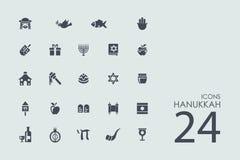 Set of Hanukkah icons. Hanukkah vector set of modern simple icons