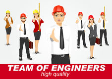 Set of happy architects or engineers Stock Images