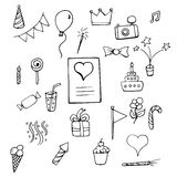 Set Happy Birthday. Signs and symbols  on a white background Royalty Free Stock Images