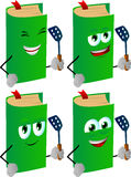 Set of happy book with a spatula Stock Images