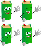 Set of happy book waving hand Royalty Free Stock Photography