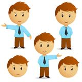 Set of happy cartoon businessman presentation Royalty Free Stock Photography