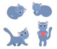 Set of happy cats 3. Stock Photos