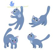Set of happy cats 4. Royalty Free Stock Image