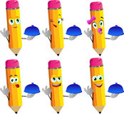 Set of happy chef pencils with ok sign Stock Photography