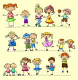 Set happy children,vector vector illustration