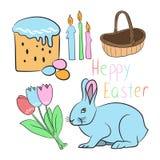 Set Happy Easter Stock Photo