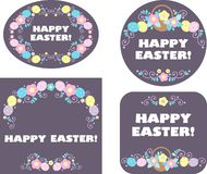 Easter labels and tag Royalty Free Stock Images
