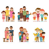 A set of happy families. Stock Photos