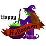 Set Of Happy Halloween Badges and Labels Stock Image