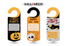 Set Of Happy Halloween Greeting Cards or Flyers Vector Stock Images