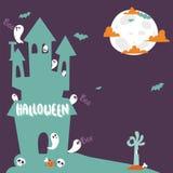 Halloween party celebration holiday brochure invitation cards vector illustration Stock Photography