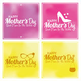 Set Of Happy Mothers's Day Template Card Background Royalty Free Stock Photography