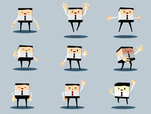 Set of happy office and business man Royalty Free Stock Image