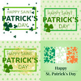 Set  of Happy St. Patrick's Day greeting cards. Royalty Free Stock Photography
